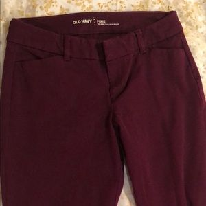 Old Navy Pixie Pants - Wine Colored